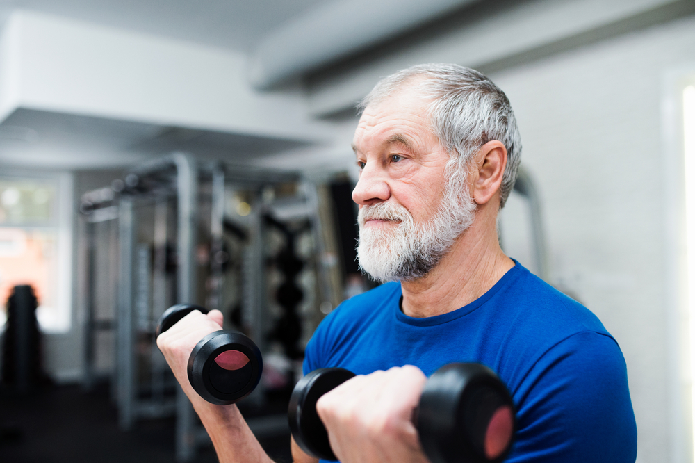 Man doing exercise for health